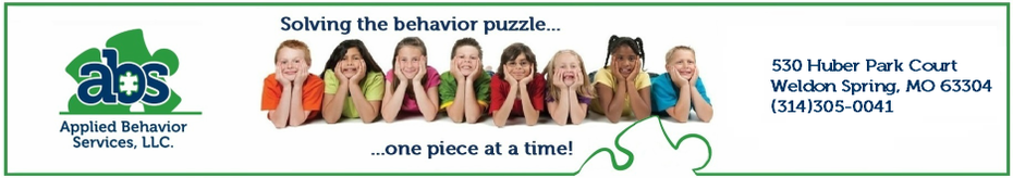 Autism Services St. Louis, St. Charles | Board Certified Applied Behavior Analysis (ABA) | Applied Behaviors Services, LLC| www.helpwithbehavior.com